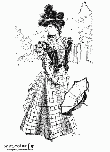 Woman in vintage Victorian dress
