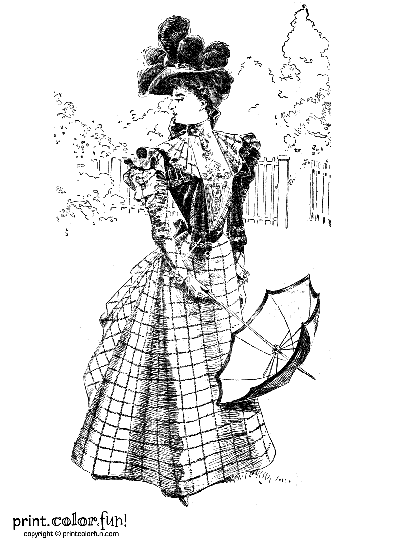Woman in a vintage Victorian dress