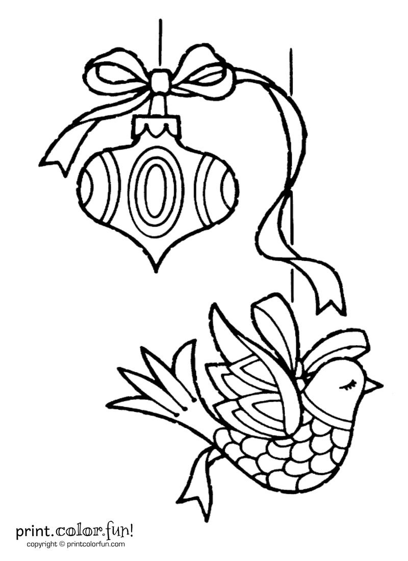 Two Christmas ornaments coloring